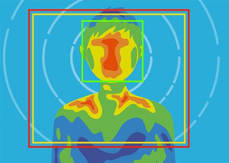 正確な体表面温度測定(精度±0.5℃)